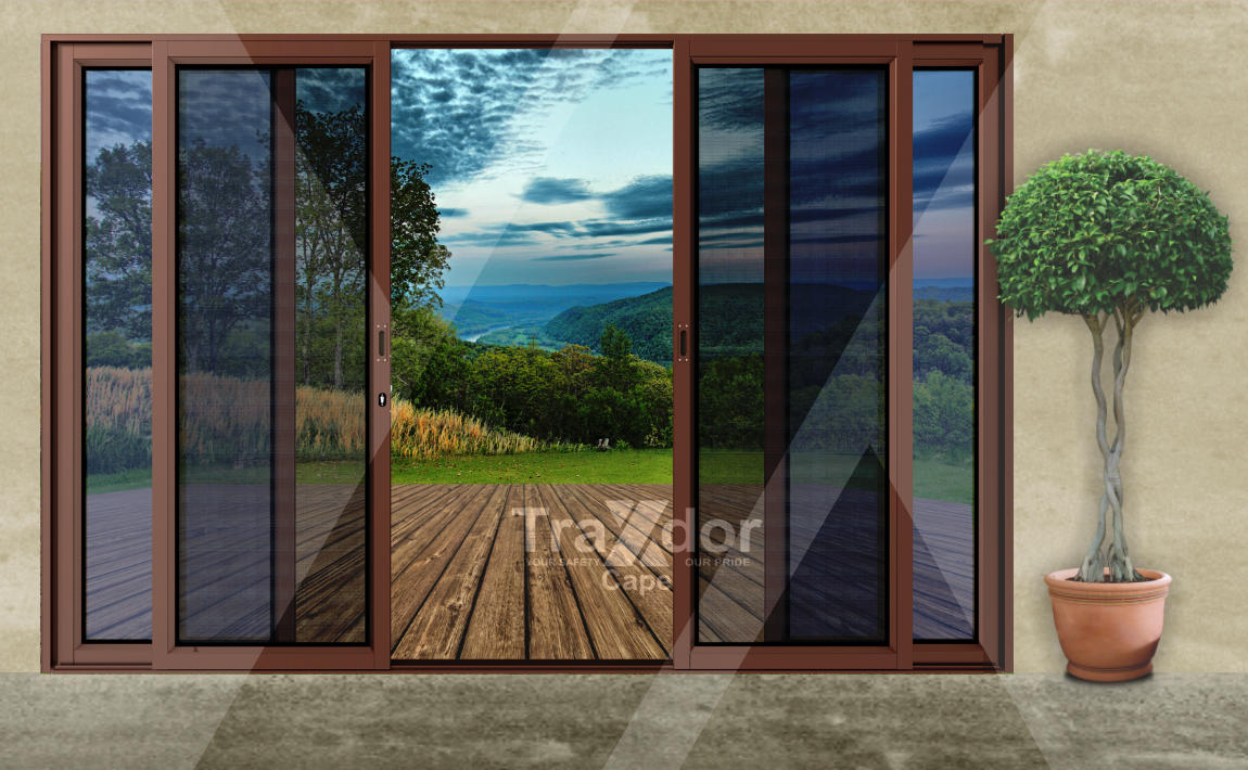 Legion Guard Clearvista Security Screen Door with stainless steel wheel sets, Traxdor Cape, Western and Eastern Cape