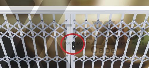 Legion Guard trellis security gate slam lock icon, Traxdor Cape, Western & Eastern Cape