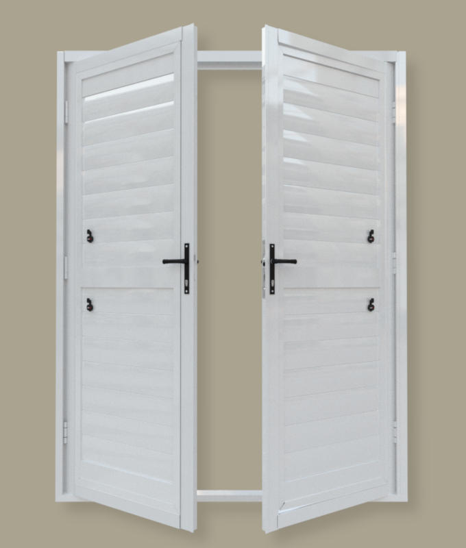 French security shutter door. A product of Traxdor Cape. Factory resides in Mossel Bay, Western Cape