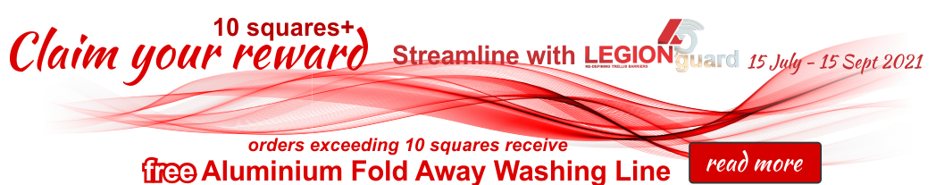 Washing line give away with 10 squares and more installations - Traxdor Cape, South Africa