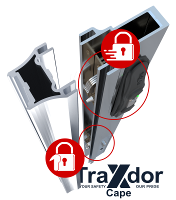 Legion Guard Trellis Security Gates - New double locking called Slam Lock and Guard Lock - Traxdor Cape, South Africa